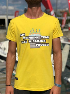 """My Drinking Team Has A Sailing Problem"" Crew Neck T-shirt"